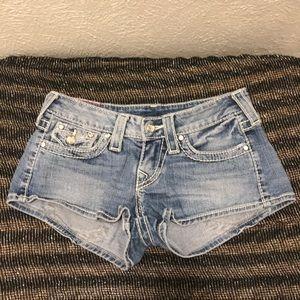 True Religion denim shorts size 24